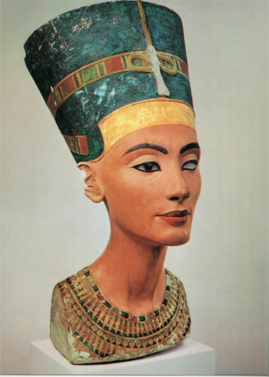 peindre les sculptures: les Kore Nefertiti,%20buste%20original%20(4)
