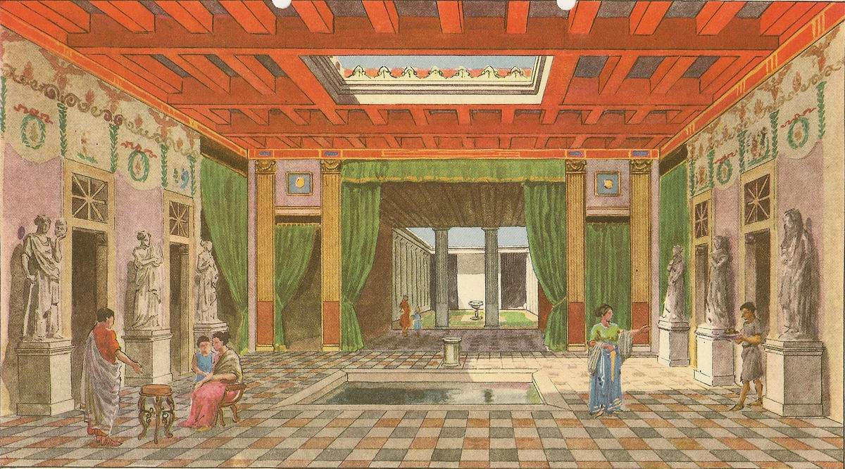 Pompei maison des vettii reconstitution de l 39 interieur for La maison de decoration